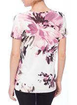 Anna Rose Floral Watercolour Print Jersey Top