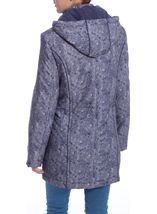 Anna Rose Printed Parka With Scarf