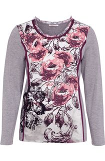 Anna Rose Embellished Floral Print Top