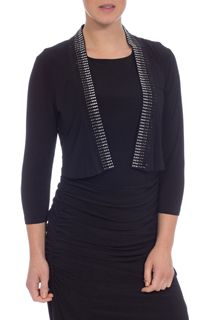 Embellished jersey Cover Up - Black