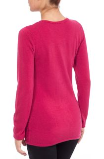 Anna Rose Embellished Knitted Top - Magenta