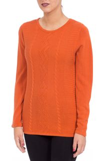 Anna Rose Embellished Knitted Top - Burnt Orange