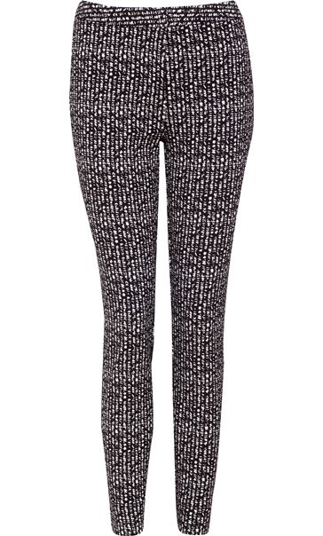 Narrow Leg Monochrome Stretch Trousers