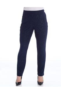 Tapered Leg Sparkle Stretch Trousers - Blue