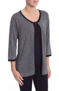 Anna Rose Three Quarter Sleeve Sparkle Knit Cover Up