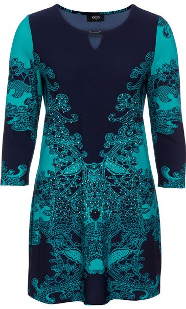 Embellished Placement Print Tunic