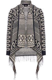 Aztec Design Waterfall Cardigan