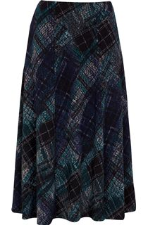 Anna Rose Elasticated Waist Check Skirt