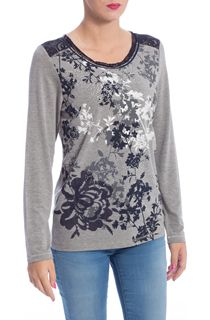 Anna Rose Lace rim Long Sleeve Top