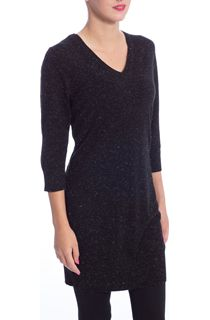Sparkle Knit And Suedette Lace Up Back Tunic