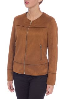 Unlined Suedette Zip Jacket
