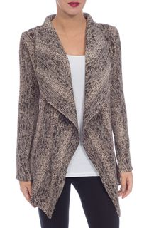 Waterfall Pleated Lightweight Cardigan