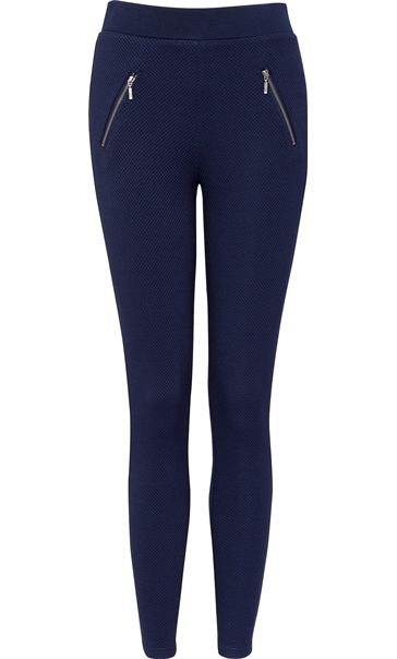 Pull On Textured Stretch Treggings