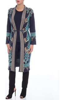 Long Decorative Knit Cardigan