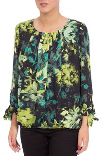 Floral Georgette Three Quarter Tie Sleeve Top