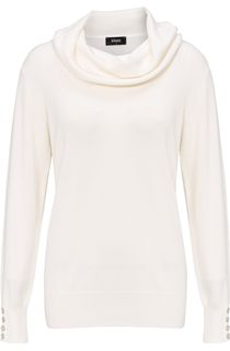 Everyday Cowl Neck Knit Top - Cream