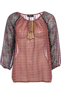 Folk Printed Georgette Top