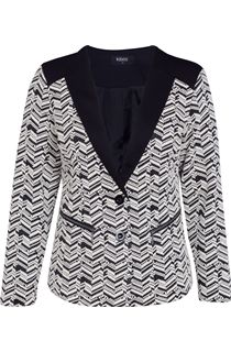 Monochrome Textured Button Jacket