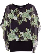 Layered Printed Chiffon Top