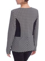 Abstract Printed Monochrome Jacket