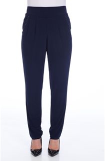 Tapered Leg Trousers - French Blue