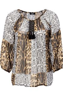 Sheer Georgette Animal Print Top