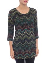 Brushed Spot Print Tunic