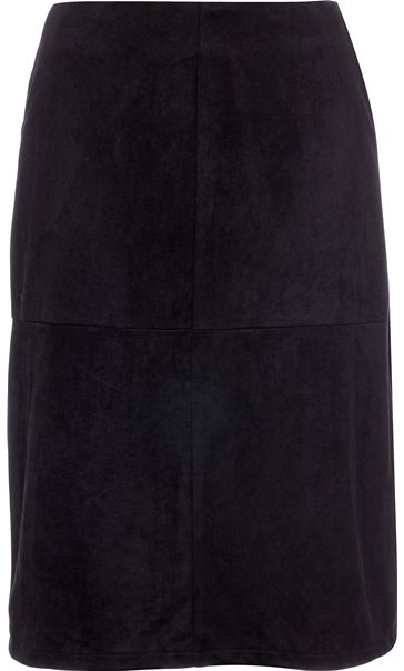Suedette Midi Pencil Skirt