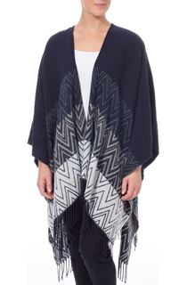 Zig Zag Knitted Cape