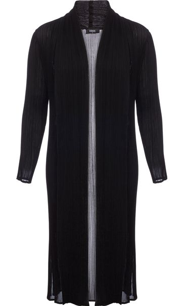 Longline Pleated Open Chiffon Cover Up