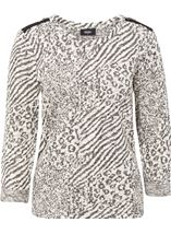 Sparkle Animal Print Knit Top