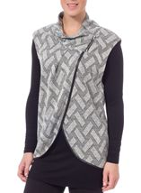 Patterned Knit And Jersey Layered Tunic