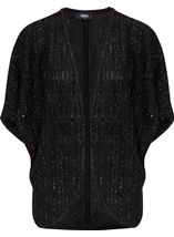 Sparkle Knit Short Sleeve Cover Up