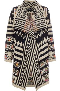 Patterned Open Knit Cardigan