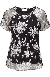 Anna Rose Floral Bias Cut Top