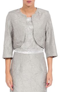 Anna Rose Cropped Crinkle Open Jacket