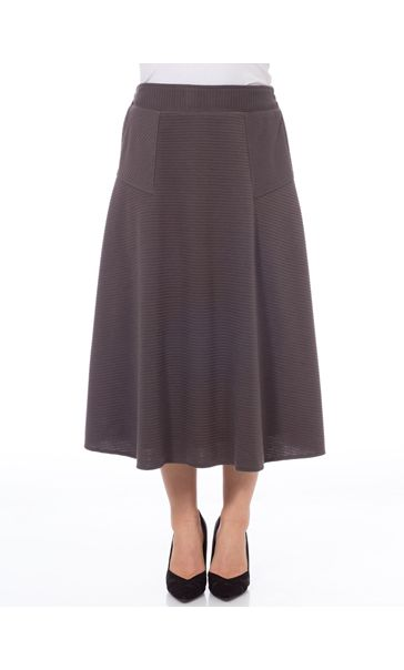 Anna Rose Textured Midi Skirt