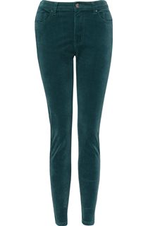 Slim Leg Stretch Cord Trousers - Green