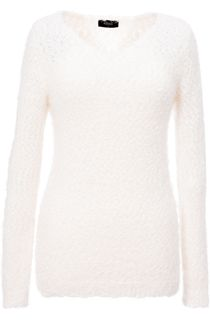 Eyelash Knit Long Sleeve Top - Cream