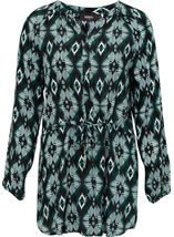 Long Sleeve Print Tunic