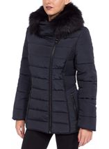 Faux Fur Collar Padded Coat