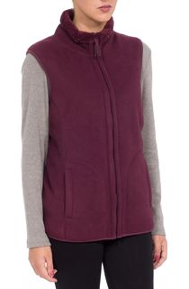 Anna Rose Reversible Fleece Gilet - Red