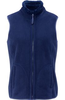 Anna Rose Reversible Fleece Gilet - Navy
