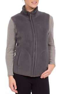 Anna Rose Reversible Fleece Gilet - Grey