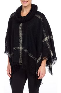 Cowl Neck Stripe Cape