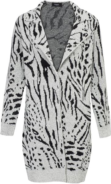 Animal Print Long Sleeve Cardigan