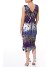 Sleeveless Sequin Midi Sheath Dress