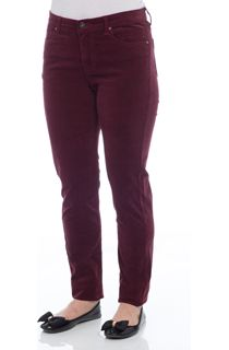 Slim Leg Stretch Cord Trousers - Red