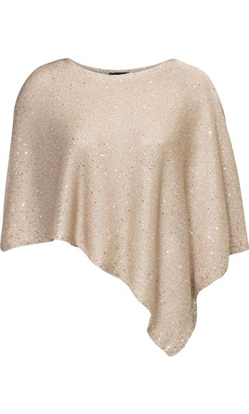 Sequin Knit Poncho