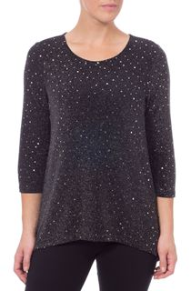 Sparkle And Pleat Long Sleeve Top